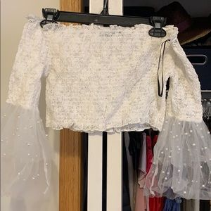 Forever 21 Tops - White cropped top